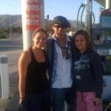 Johnny stopped to pump some gas at the Chevron gas station, California.